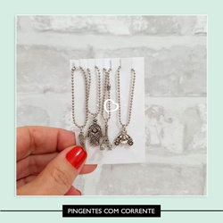 Pingentes com Corrente - 76885F - Studio Office K