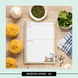 Caderno de Receitas * Amor - 74FE94 - Studio Office K