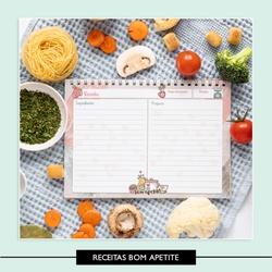 Caderno de Receitas * Bom Apetite - 757DE8 - Studio Office K