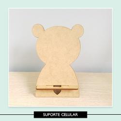 Suporte Celular Urso - 7FC5F0 - Studio Office K