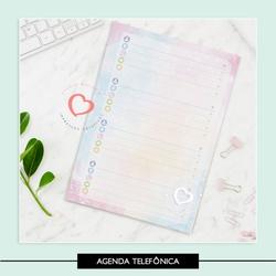 Miolo para Agenda Telefônica - 76FCF4 - Studio Office K