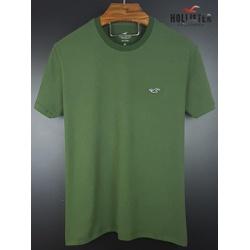 Camiseta Hollister verde musgo basica - holl-011 - BEM VINDOS