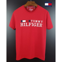 Camiseta Tommy Bandeira Bordada Vermelha - th-008 - BEM VINDOS