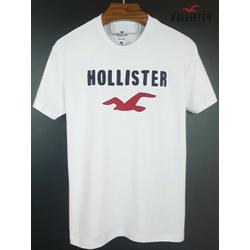 Camiseta Hollister Branca/Marinho/Vermelha - hol-0... - BEM VINDOS