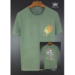 Camiseta Osk Verde Estonada - camosk - BEM VINDOS