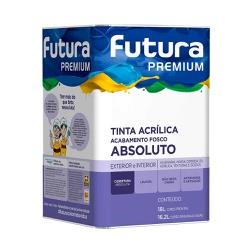 TINTA ACRÍLICA FOSCO ABSOLUTO PREMIUM FUTURA - 18L - TINTAS JD