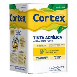 TINTA ACRÍLICA FOSCO BRANCO CORTEX 18L FUTURA - TINTAS JD