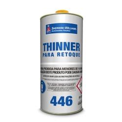 THINNER PARA RETOQUE 446 0,9L LAZZURIL - TINTAS JD