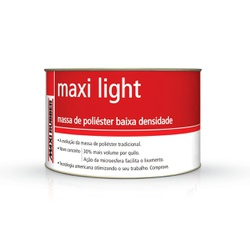 MASSA POLIÉSTER MAXI LIGHT 500G COM CATALISADOR MA... - TINTAS JD