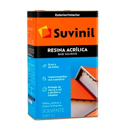 RESINA ACRÍLICA BASE SOLVENTE SUVINIL 5L - TINTAS JD