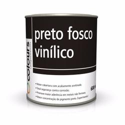VINÍLICO PRETO FOSCO 0,6L SEM CATALISADOR MAXI RUB... - TINTAS JD