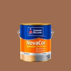 NOVACOR ESMALTE BRILHANTE MARROM CONHAQUE 3,6L