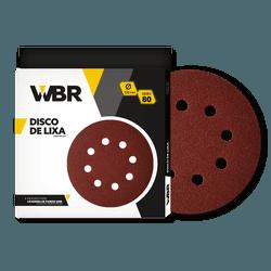 WAGNER DISCO DE LIXA 225MM GRÃO 80 - 8 FUROS