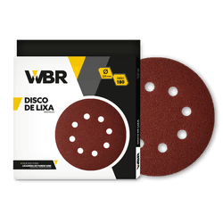 WAGNER DISCO DE LIXA 225MM GRÃO 180 - 8 FUROS