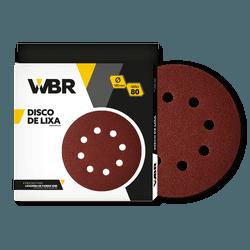 WAGNER DISCO DE LIXA 180MM GRÃO 80 - 8 FUROS