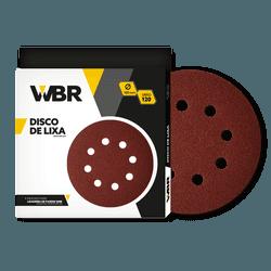 WAGNER DISCO DE LIXA 180MM GRÃO 120 - 8 FUROS