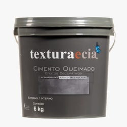 Textura e Cia Cimento Queimado Concreto 6kg