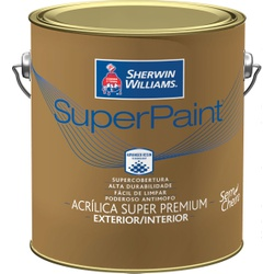 SHERWIN WILLIAMS SUPER PAINT LATEX ACETINADO BRANCO 3,6L