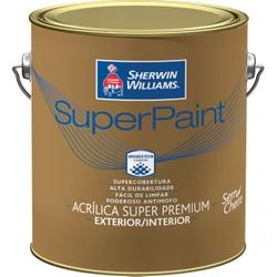 SHERWIN WILLIAMS SUPER PAINT LATEX FOSCO BRANCO 3,6L