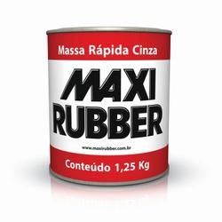 MAXI RUBBER MASSA RÁPIDA CINZA 900ML