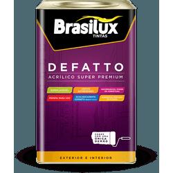 Tinta Acrílica Super Premium Defatto Brasilux 18L - TINTAS SÃO MIGUEL