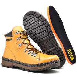 Bota Adventure Caterpillar Amarelo - Top Franca Shoes   Calçados confortáveis em Couro