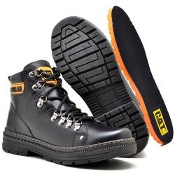 Bota Adventure Caterpillar Preto - Top Franca Shoes | Calçados confortáveis em Couro
