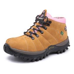 Bota Adventure em Couro Whisky - Top Franca Shoes | Calçados confortáveis em Couro