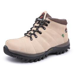 Bota Adventure em Couro Bege - Top Franca Shoes   Calçados confortáveis em Couro