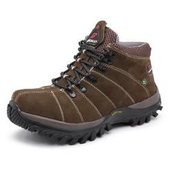 Bota Adventure em Couro Marrom - Top Franca Shoes | Calçados confortáveis em Couro