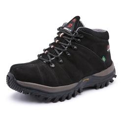 Bota Adventure em Couro Preto - Top Franca Shoes | Calçados confortáveis em Couro