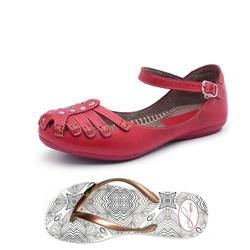 Kit Sandália e Chinelo - Top Franca Shoes | Calçados confortáveis em Couro