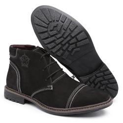 Bota Coturno Masculino Top Franca Shoes C/ Ziper P... - Top Franca Shoes | Calçados confortáveis em Couro