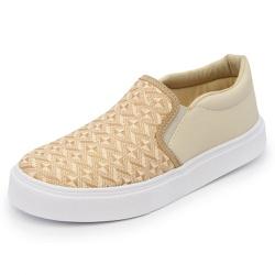 Sapatênis Feminino Top Franca Shoes Iate Bege - Diconfort Calçados | Calçados confortáveis e anatômicos