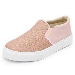 Sapatênis Feminino Top Franca Shoes Iate Rosa - Top Franca Shoes | Calçados confortáveis em Couro