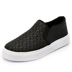 Sapatênis Feminino Top Franca Shoes Iate Preto - Top Franca Shoes | Calçados confortáveis em Couro