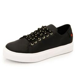 Sapatênis Feminino Top Franca Shoes Preto - Top Franca Shoes | Calçados confortáveis em Couro