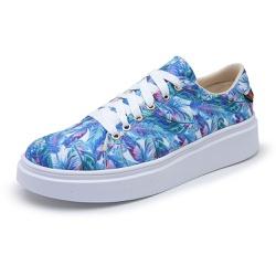 Sapatênis Feminino Top Franca Shoes Floral Azul - Top Franca Shoes | Calçados confortáveis em Couro
