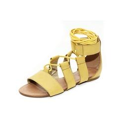 Sandália Feminina Gladiadora Top Franca Shoes Amar... - Top Franca Shoes | Calçados confortáveis em Couro