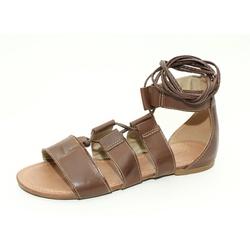 Sandália Feminina Gladiadora Top Franca Shoes Cafe - Top Franca Shoes | Calçados confortáveis em Couro