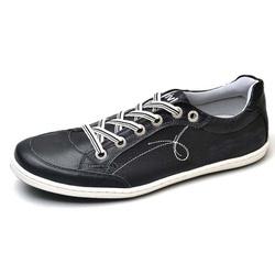 Sapatênis Masculino Top Franca Shoes Preto - Top Franca Shoes | Calçados confortáveis em Couro