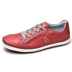 Sapatênis Masculino Top Franca Shoes Vermelho - Top Franca Shoes | Calçados confortáveis em Couro
