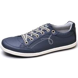 Sapatênis Masculino Top Franca Shoes Azul - Top Franca Shoes | Calçados confortáveis em Couro