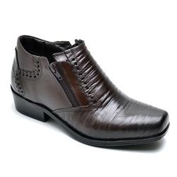 Bota Botina Social Country Reta Oposta Cafe - Top Franca Shoes | Calçados confortáveis em Couro