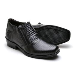 Bota Botina Social Country Reta Oposta Preto - Top Franca Shoes | Calçados confortáveis em Couro