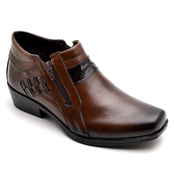 Bota Botina Social Country Reta Oposta Café - Top Franca Shoes | Calçados confortáveis em Couro