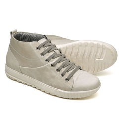 Tênis Casual Cano Alto Top Franca Shoes Gelo - Top Franca Shoes | Calçados confortáveis em Couro