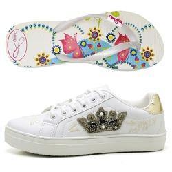 Kit Feminino Tênis Coroa + Chinelo Sandália Rastei... - Top Franca Shoes   Calçados confortáveis em Couro
