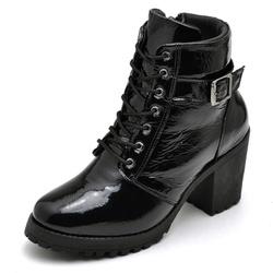 Bota Coturno Feminino Top Franca Shoes Motociclist... - Top Franca Shoes | Calçados confortáveis em Couro