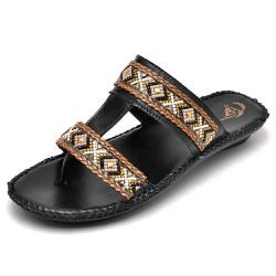Sandalia Chinelo Feminino Top Franca Shoes Confort... - Top Franca Shoes | Calçados confortáveis em Couro